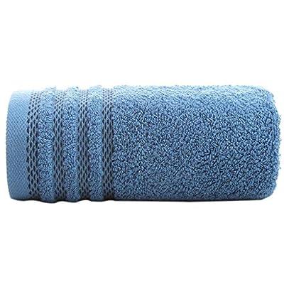 Serviettes De Luxe en Coton 100% Bleu (70x34CM) - Lingettes Douces Et Très Absorbantes - Accessoires De Salle De Bain Serviettes À Thé Classiques - Qualité Hôtelière