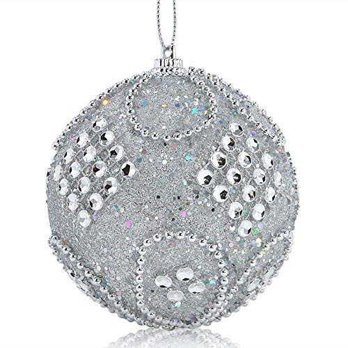 (ZHRUI Christbaumschmuck, Strass Ornament Glitter Christbaumkugeln Weihnachten Ornament Christmas Eve Box Dekorationen)