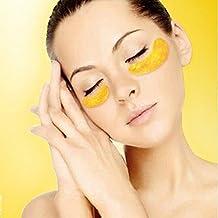 zacy 10pares mujeres hombres belleza oro crystal colágeno máscara de ojo parche Eye parches Eye Care Antienvejecimiento elimina oscuro círculos y líneas finas