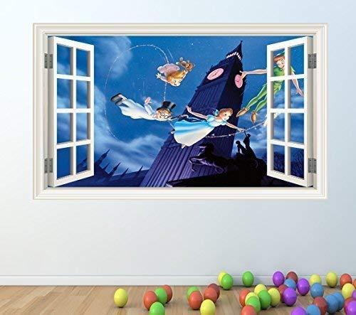 1Stop Graphics Shop Peter Pan volle Farbe Wandaufkleber - Mädchen Jungen Disney Schlafzimmer C209 - Large: 60 cm x 96 cm