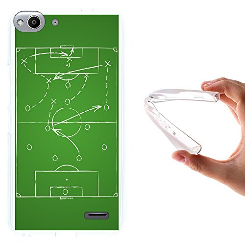 WoowCase Vodafone Smart Ultra 6 Hülle, Handyhülle Silikon für [ Vodafone Smart Ultra 6 ] Strategie Fußballtisch Handytasche Handy Cover Case Schutzhülle Flexible TPU - Transparent