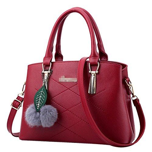Frauen Top Griff Schulranzen Handtaschen Taschen Handtasche Multicolor Red
