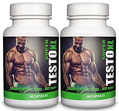 Testosterone Booster for Men 120 Capsules SUPER TESTO XL 2 Month Supply by Natural Answers from Natural Answers