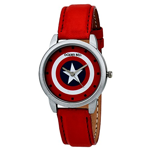 Golden Bell Captain America Analogue Multicolor Dial Kids Watch-0031Gbk