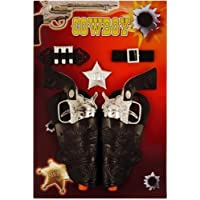 Kids adults cowboy cowgirl guns pistols & holster fancy dress toy set - Made of durable plastic to withstand lots of wear and tear.