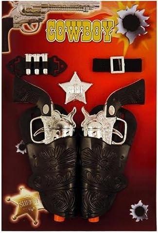 Kids adults cowboy cowgirl guns pistols & holster fancy dress
