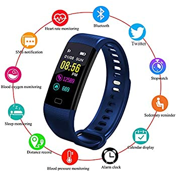 LIGE Montre Connectée,Bracelet Intelligent écran Couleur Imperméable Moniteur de fréquence Cardiaque Surveillance du Sommeil Tracker activité Podomètres ...