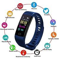 LIGE Montre Connectée,Bracelet Intelligent écran Couleur Imperméable Moniteur de fréquence Cardiaque Surveillance du Sommeil Tracker activité Podomètres Bleu Bracelet Sportif pour Android/iOS