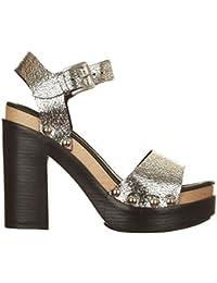 ANNA FIDANZA Mi0345ap - Zapatos de cordones de Piel para mujer plateado Size: 39 y4JkKj