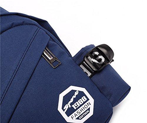 Outdoor peak Nylon Herren Tasche Brusttasche Sport Rucksack Fahrrad (schwarz) Blau