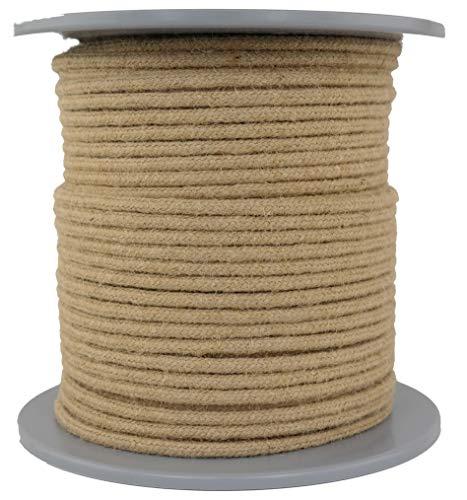 Juteseil/Seil aus Jute/Jutetau geflochten Natur Durchmesser ca.6mm - Länge: 100 Meter