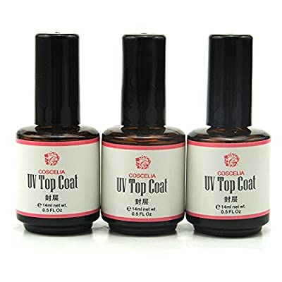 Coscelia 3 UV Top Coat Topcoat for Nail Art Gel Polish Tips