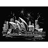 Royal Langnickel FAM-7 - Engraving Art/Kratzbilder, DIN A3, Sydney Opernhaus, silber