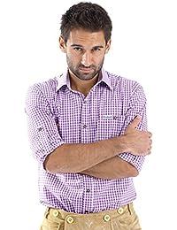 ALMBOCK Trachtenhemd Herren kariert | Slim-fit Männer Hemd in vielen Karo Farben | Hemd aus 100% Baumwolle in den Größen S-XXXL
