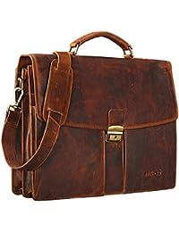 STILORD 'Julian' Maletín Clásico de piel para Hombres Mujeres Ejecutivo Trabajo business bag 15,6 pulgadas Vintage Piel auténtico