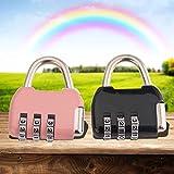 Cdrox Mini Metallo 3 cifre Numero Combinazione di Password Blocco Bagagli Lucchetto DE