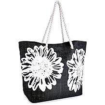 Borse Borsa Donna Bags Fiore Stampa Maniglia Tela Tracolla Estate Corda Da A Su Summer PTEwWaq4P