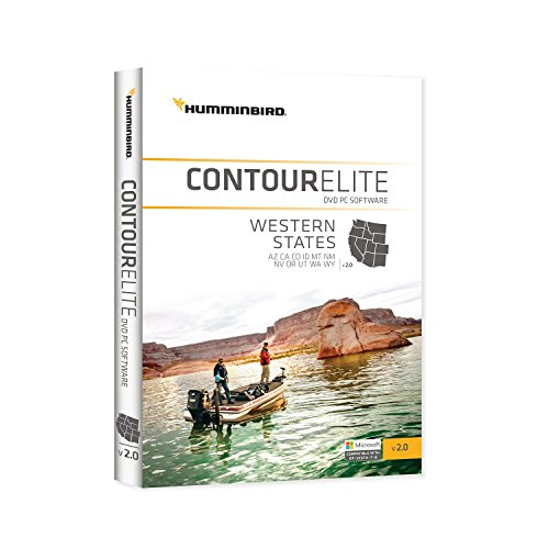LAKEMASTER 600012-2 Humminbird Contour Elite, Western Staaten Angeln-gps-software