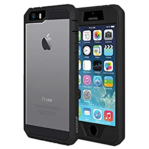 AMZER Full Body Hybrid for iPhone 5 / iPhone 5S - Black