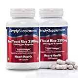 SimplySupplements Red Yeast Rice 2500mg Super Strength|For Healthy Cholesterol Levels|240 Capsules in total from Simply Supplements