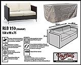 RLB150straight Hülle für Lounge Bank, Rattan Gartensofa oder Lounge Sofa, 2 Personen, passt am besten am Sofa von max. 150 x 90 cm. Schutzhüllen für Bank, Schutzhülle für Lounge Bänke, Abdeckhaube Schutzhülle Schutz-Plane für gartenbank gartensofa