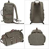 0da61f4038 KAUKKO Multi-Function Vintage Canvas Zaino escursionismo viaggio Zaini  militari Messenger Bag. 🔍