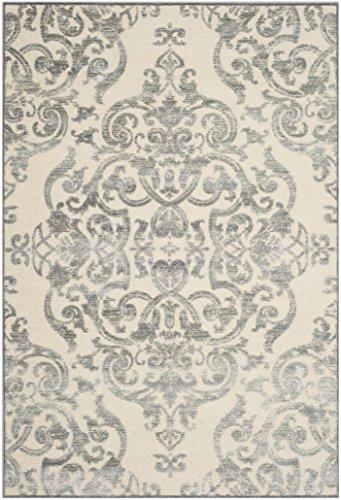 Safavieh Moderner Teppich, PAR348, Gewebter Viskose, Grau / Mehrfarbig, 160 x 230 cm