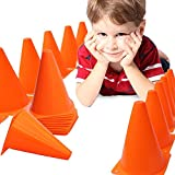 Training Cones (6 Inch) Set of 6 Sports Fitness Health Pro Traffic Sports Football, Rugby, Soccer Training Boundary Multicolor Durable Material Made Cones,Sports, Training, Boundary,Track, Field, Skating Cone Assorted Color By SK Sports