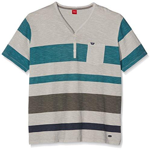 s.Oliver Big Size Herren T-Shirt Grau (Sun Bleached Grey 91G0)