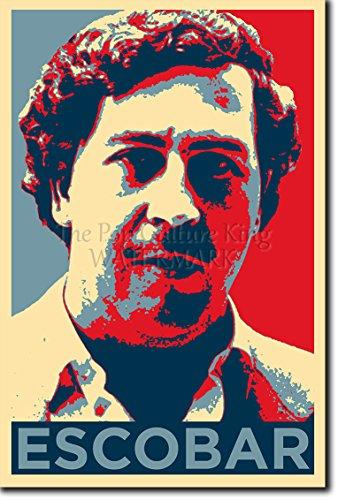"""Pablo Escobar (lámina basada en el diseño """"hope"""" de Obama) Afiche para regalo impreso en papel de fotografía con brillo 30x20 cm Poster / póster."""