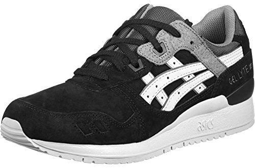 Asics Uomo Nero/Soft Grigio Gel-Lyte III Sneakers nero grigio bianco