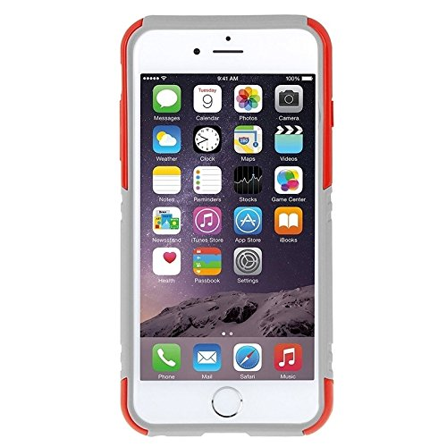 Phone case & Hülle Für IPhone 6 Plus / 6s Plus, Dual Layer TPU Kunststoff Combo Gehäuse mit Kickstand ( Color : Blue ) Red