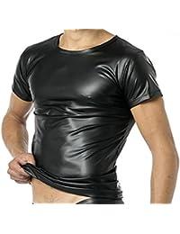Latex Herren Shirt 1/2 Arm- Vinyl -Shirt VERANO VA-C32-000