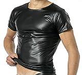 Latex Herren Shirt 1/2 Arm- Vinyl -Shirt VERANO VA-C32-000 (M)