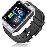 Piqancy Stylish DZ09 Smart Watch With Camera, Calling Function, Bluetooth V3.0, Support SIM Card, SD Card, For All Smart Phones. Silver, Free Size