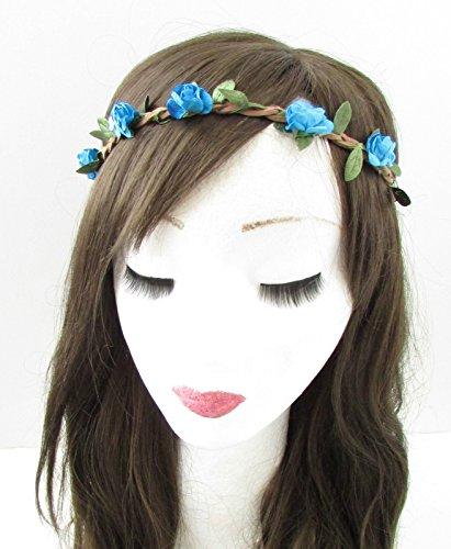Bleu Rose cheveux fleur couronne bandeau Guirlande Boho festival tressé COACHELLA B15 * * * * * * * * exclusivement vendu par – Beauté * * * * * * * *