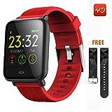 CanMixs CM07 Bluetooth Smartwatch Wasserdichte IP67-Aktivität Fitness-Tracker-Uhr mit Pulsmesser Schrittzähler Schlafmonitor Stoppuhr SMS-Anrufbenachrichtigung Remote Camera Music iOS Android Phone