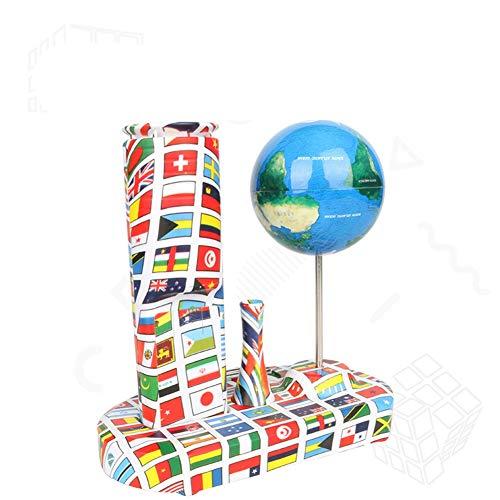 SunxwenGB 360 ° Rotator Crazy Spinning Globe Kreatives Anti-Schwerkraft-Gyroskop Grenzüberschreitendes Desktop-Explosions-Dekompressions-Babyspielzeug (Farbe : Blau, Größe : Free Size)