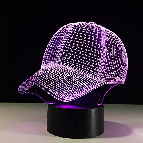 Nettes Spielzeug Baseball Cap 3D LED Tischlampe Touch Nachtlicht 7 Farbwechsel Schlaf Licht Acryl Hut Sport Atmosphäre Tischlampe Weihnachtsgeschenk Atmosphäre