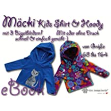 Mäcki Nähanleitung mit Schnittmuster auf CD Kinder Kapuzen-Pullover Hoodie