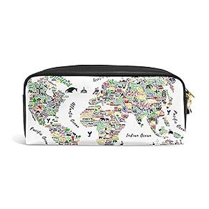 jstel mapa del mundo de viaje Póster Las Ciudades Y Turismo ATT escuela lápiz bolsa para bebés de los niños Niños Adolescentes soporte para bolígrafos de maquillaje bolsa mujer duradera gran capacidad bolsa de papelería
