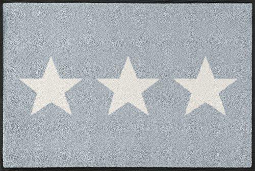 wash + dry 056003 Fußmatte Stars, 50 x 75 cm, grau