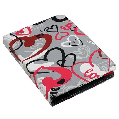 'E-Vitta Booklet for eBook reader Case of 6–Crazy Hearts - Best Price