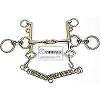 AMIDALE rugy Pelham FRENO DE CABALLO French Link Acero inoxidable NUEVO CON ETIQUETA - 4.50