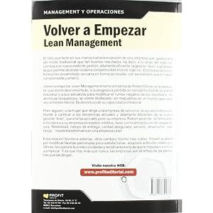 Volver A Empezar. Lean Management