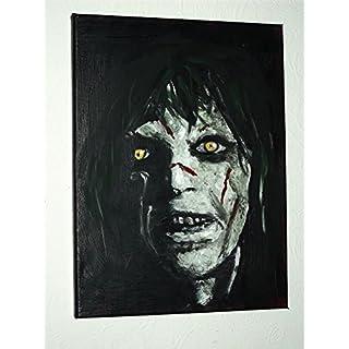 ARTRAX Exorcist, handbemalt, auf Leinwand, Horror, 16x–12ins