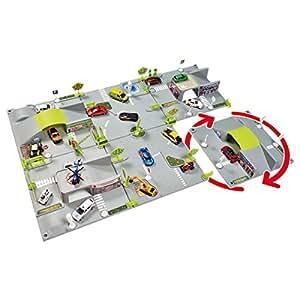Norev - T23066 - Norev - Circuit Et Rond-Point Modulable Clip-City 6 Plateaux