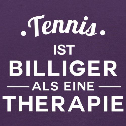 Tennis ist billiger als eine Therapie - Herren T-Shirt - 13 Farben Lila