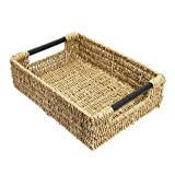 WoodLuv Large Seagrass Storage Basket With Handle
