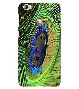 ColourCraft Peacock Feather Design Back Case Cover for LeEco Le 1S